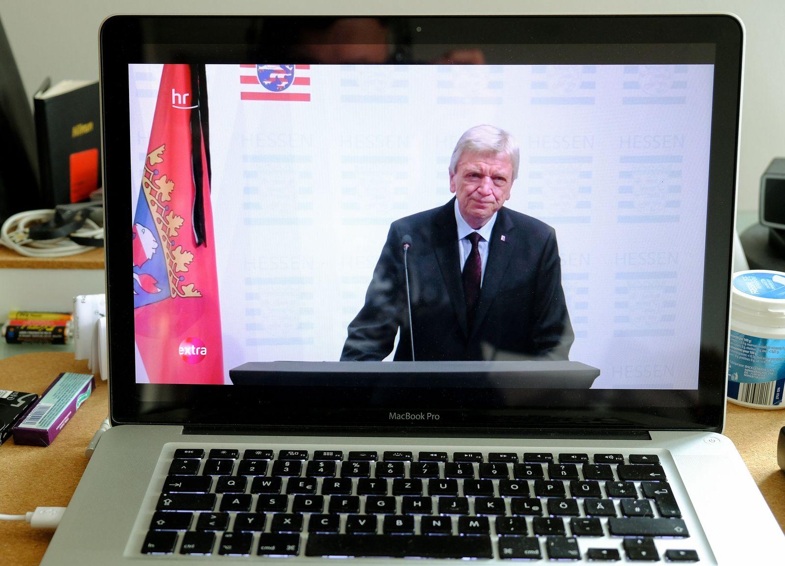 Bouffier im Livestream zum Tod von Hessens Finanzminister Schäfer