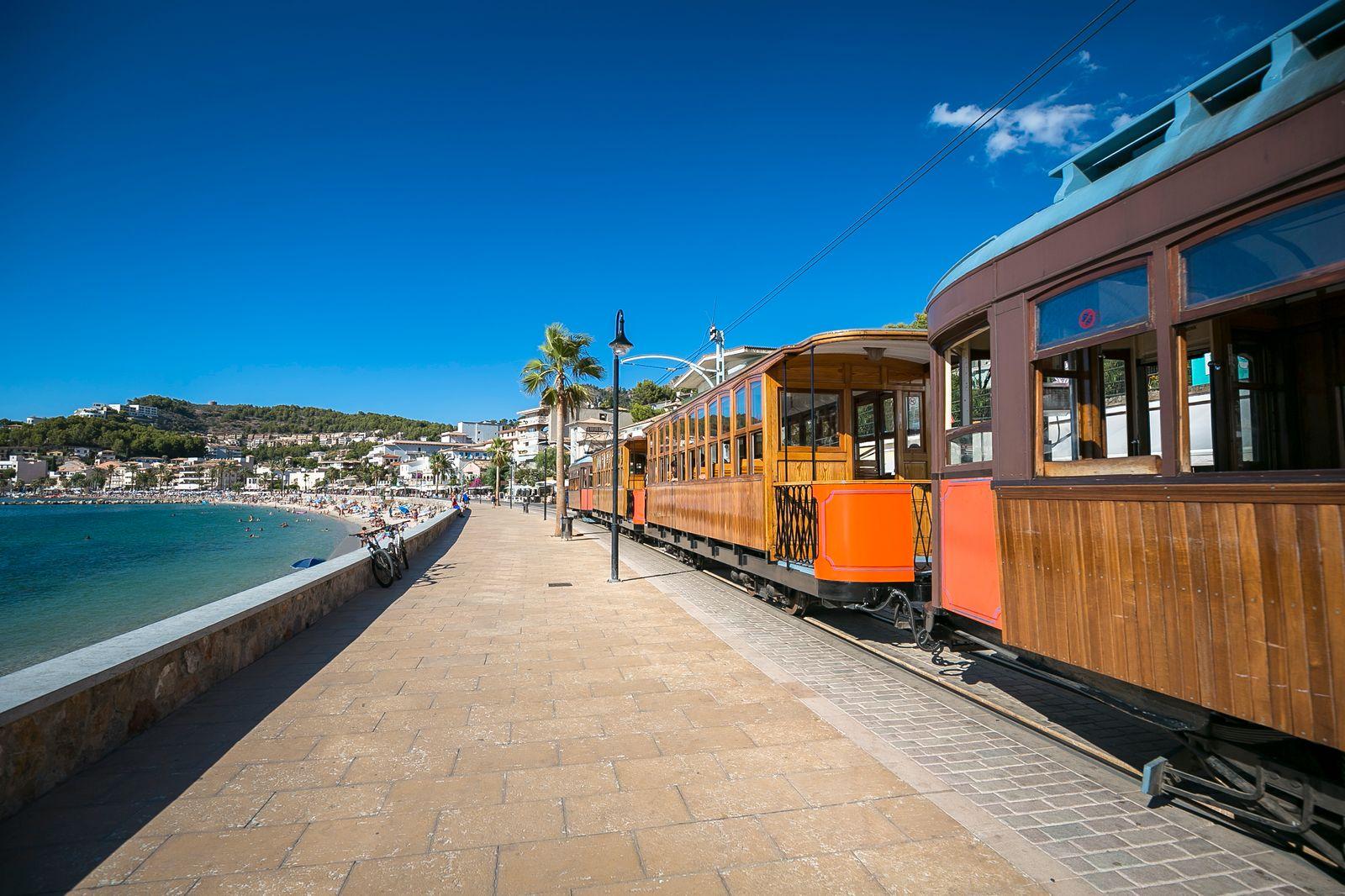 Tramway in Port De Soller, Majorka