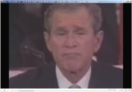 "George W. Bush, unfreiwilliger Friedenssänger: ""How long must we sing this song?"""