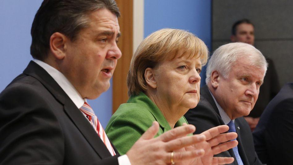 """Kanzlerin Merkel, CSU-Chef Seehofer: """"Zu hadern ist nicht mein Angang"""""""