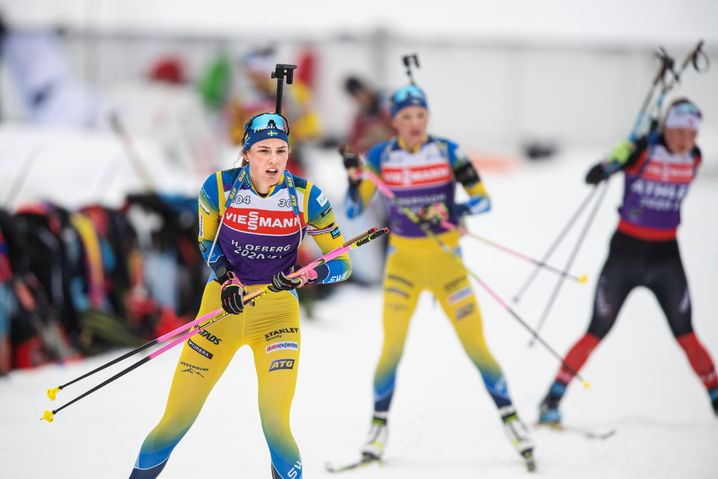Hanna Öberg im Training von Pokljuka