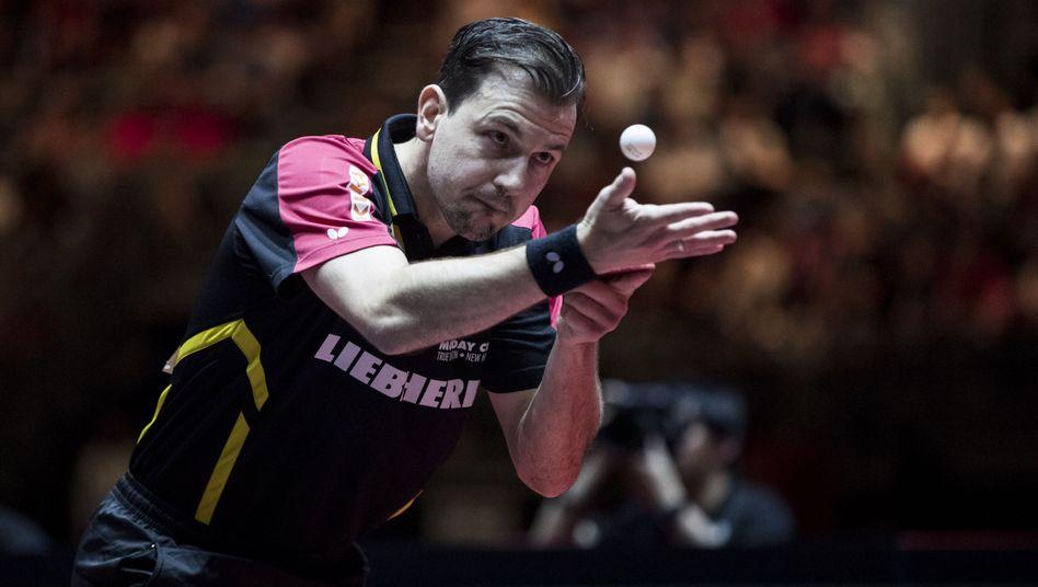 Timo Boll bei der Tischtennis-WM 2017 in Düsseldorf (Archiv)