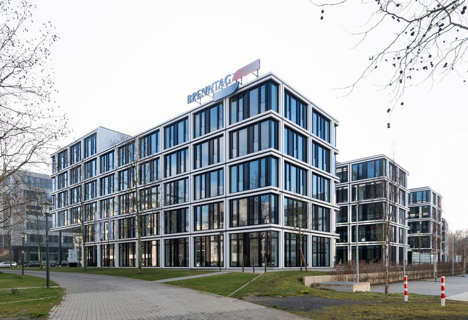 Bürogebäude House of Elements, Konzernzentrale Brenntag Holding GmbH, Essen, Ruhrgebiet, Nordrhein-Westfalen, Deutschlan