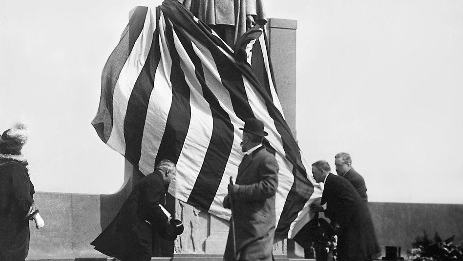 Das Carl-Schurz-Denkmal in New York: Der Deutsche war von 1877-1881 amerikanischer Innenminister