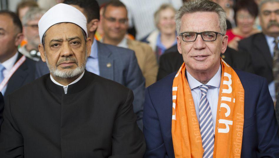 Ahmed el-Tayeb und Thomas de Maizière