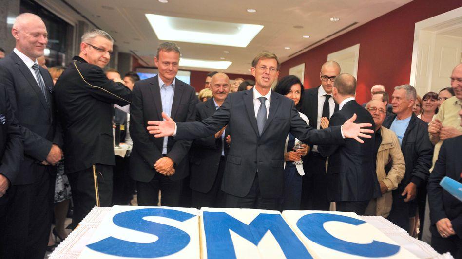 SMC-Chef Cerar (Mitte): Renommierter Rechtsprofessor