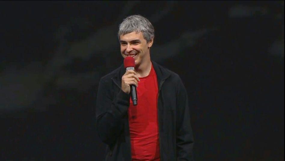 Google-Mitgründer Larry Page: Überraschender Auftritt auf der Entwicklerkonferenz