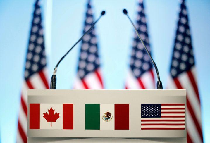 Kanada, Mexiko, USA: Pult bei den Nafta-Neuverhandlungen