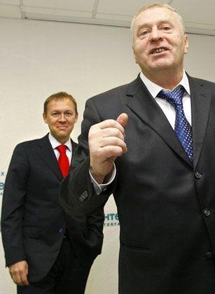 Kandidat Lugowoi, Parteiführer Schirinowski: Sotschi als Wahlkampfarena