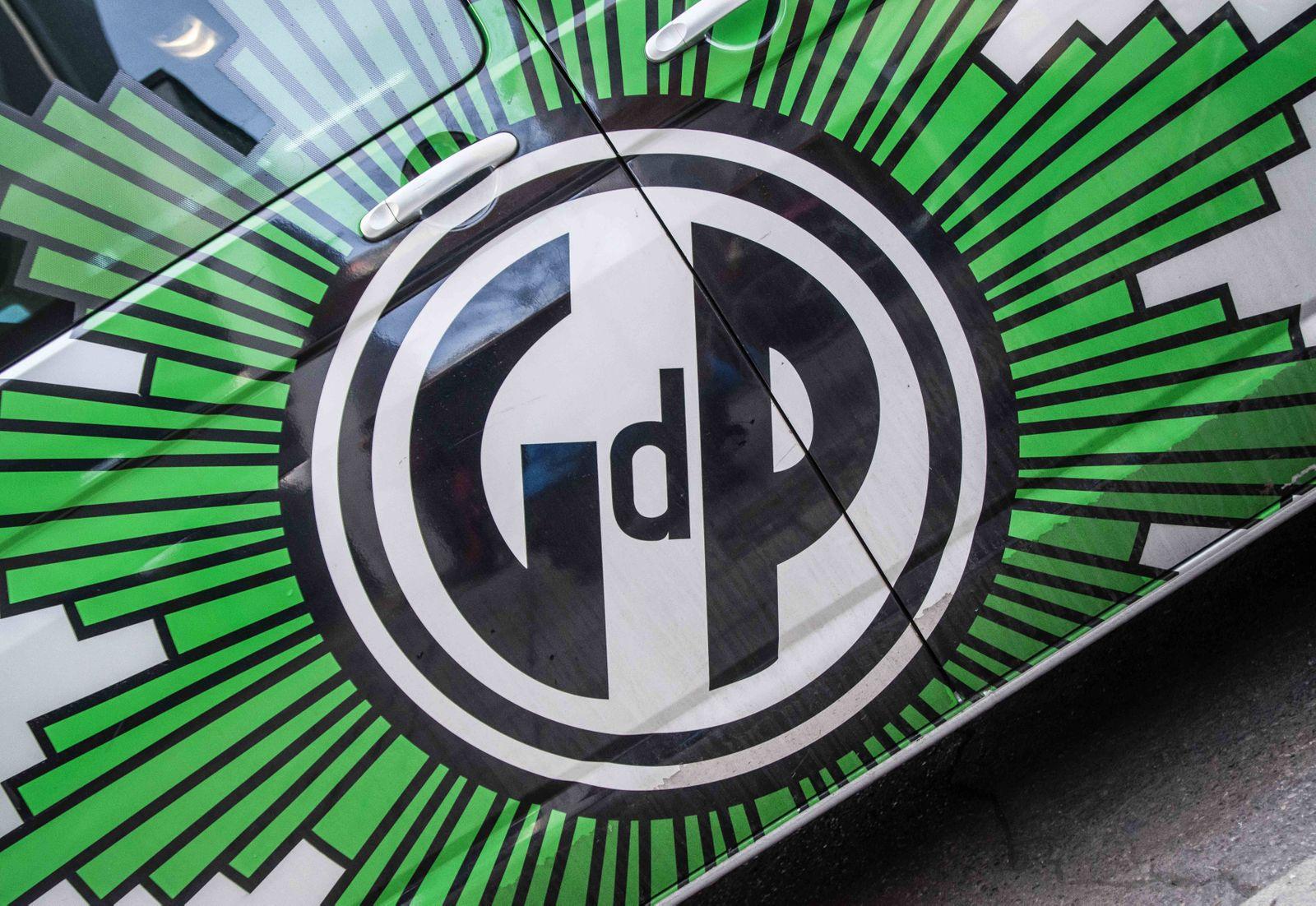 February 26, 2019 - Munich, Bavaria, Germany - Logo of the German Gewerkschaft der Polizei GdP Polic