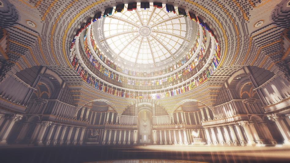 """Die """"unzensierbare Bibliothek"""" aus 12,5 Millionen Blöcken, erbaut in """"Minecraft"""""""