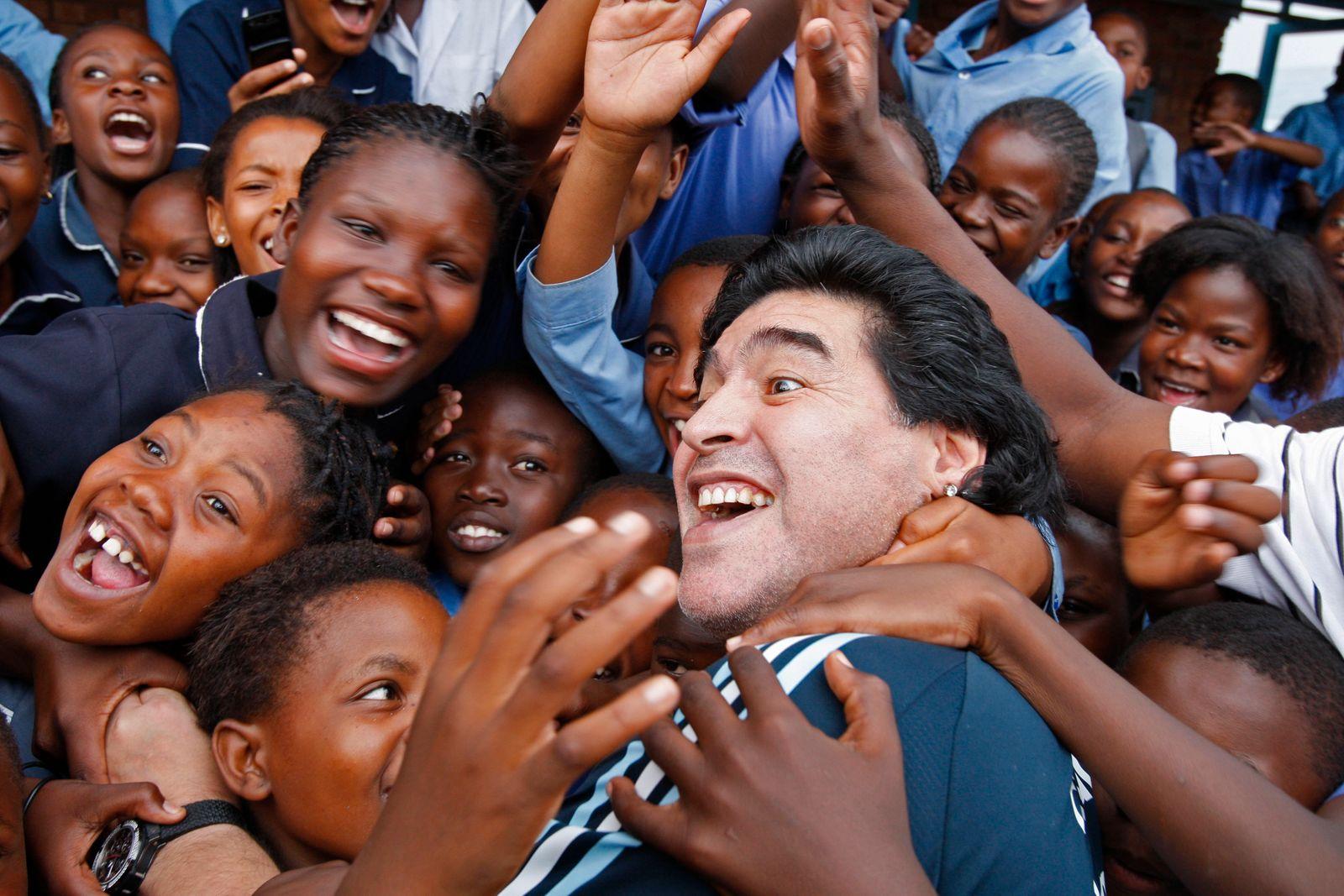 APTOPIX South Africa WCup Maradona