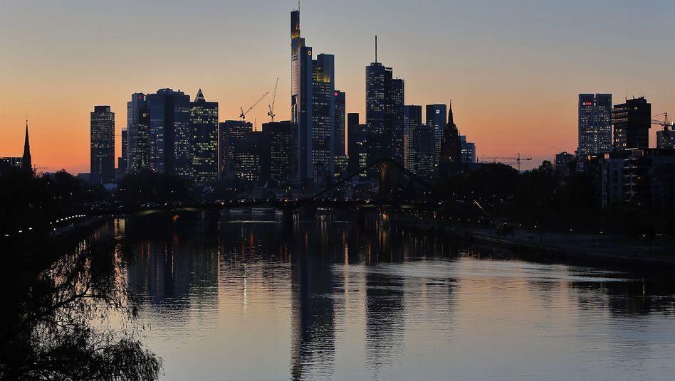 Banken-Skyline in Frankfurt am Main: Rekordstrafe für das Zinskartell