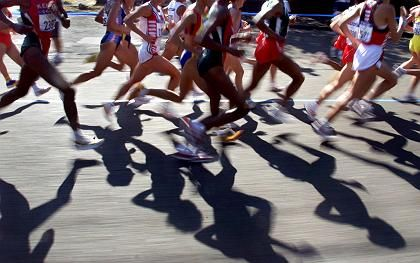 Marathonläufer: Zu viel Wasser kann gefährlich sein