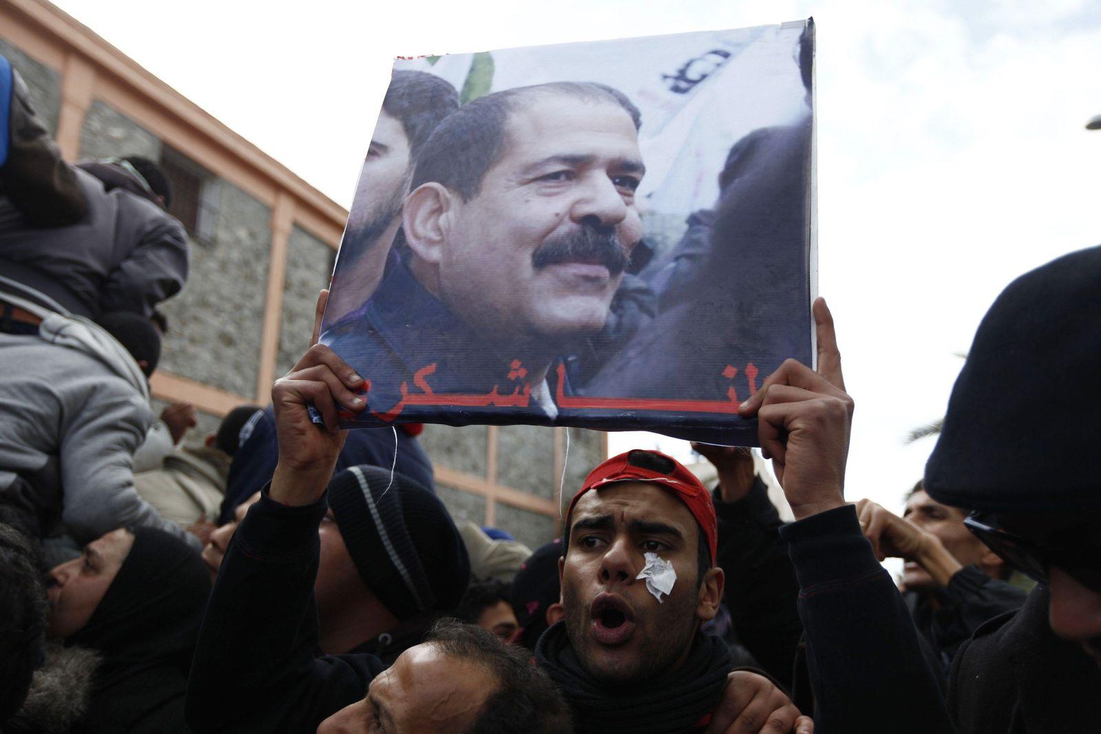 Tunesien / Belaid / Beerdigung