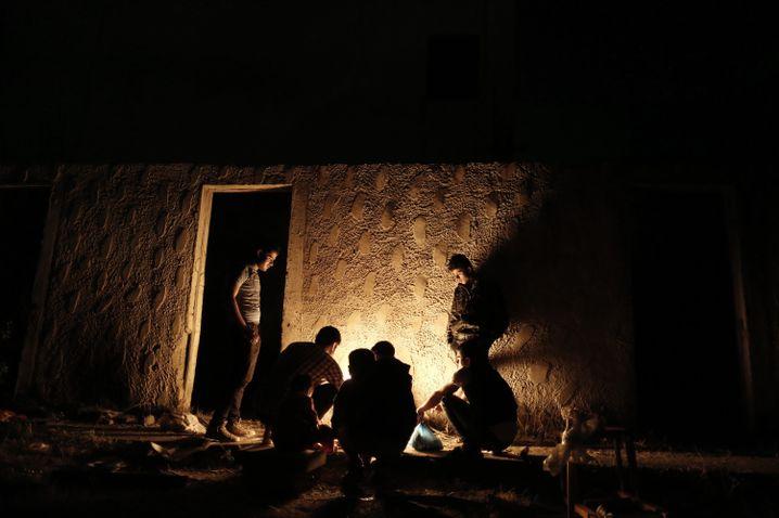 Flüchtlinge in einem verlassenen Hotel auf Kos (Archivfoto)