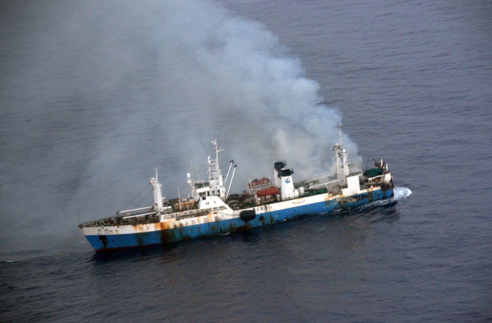 Schiff Feuer