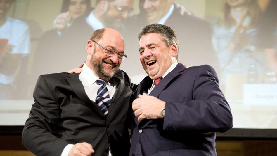 Martin Schulz (l.), Sigmar Gabriel