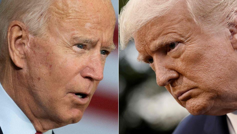 Zwei Kandidaten, zwei Townhalls: Biden und Trump