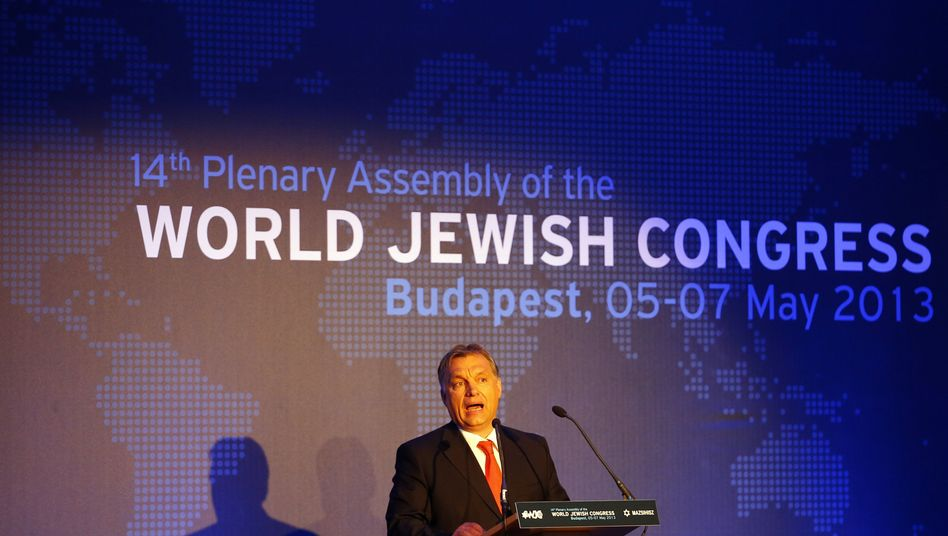Hungarian Prime Minister Viktor Orban spoke at the World Jewish Congress in Budapest but failed to address the issue of anti-Semitism in Hungary head-on.