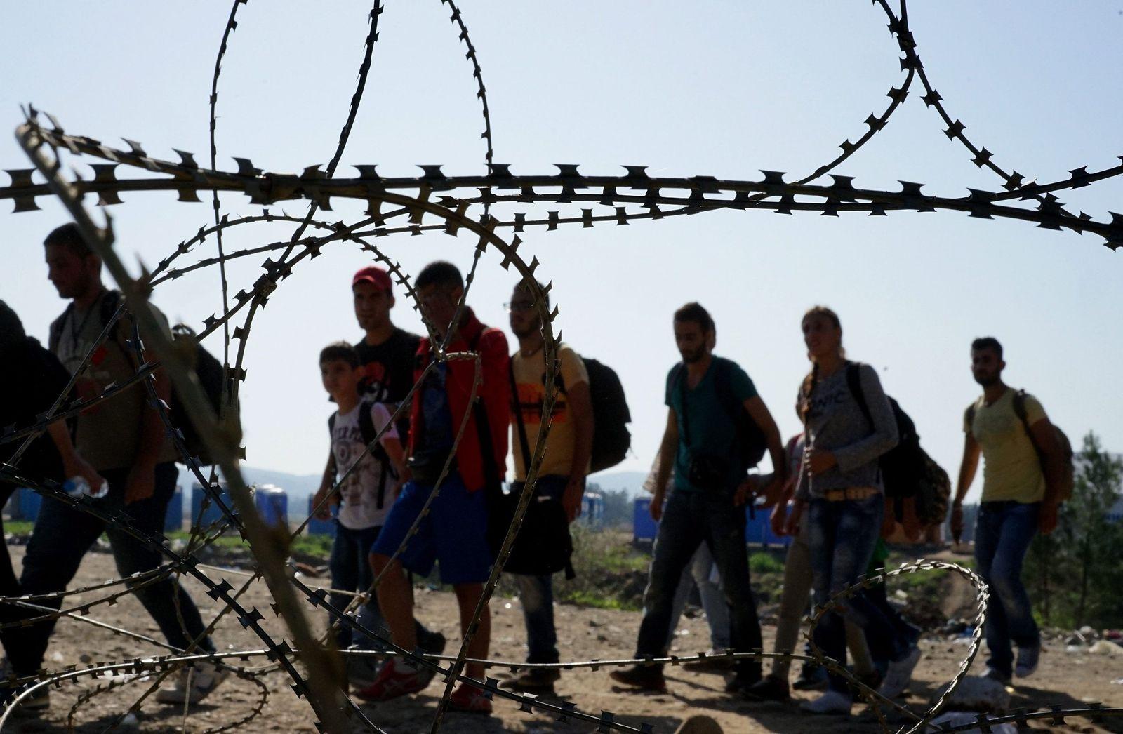 Flüchtlinge / Grenze Griechenland-Mazedonien