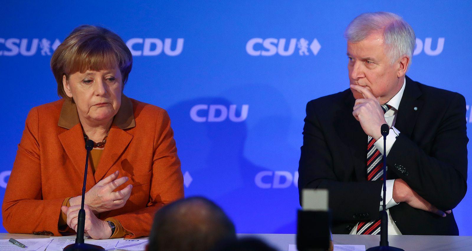 EINMALIGE VERWENDUNG Angela Merkel/ Horst Seehofer