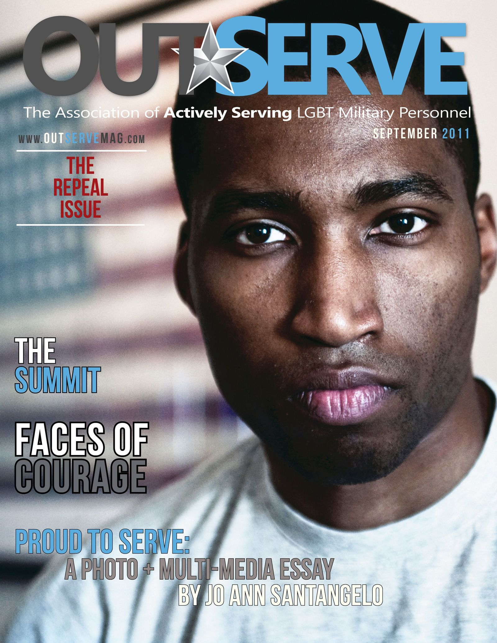 EINMALIGE VERWENDUNG OutServe Magazine/ Cover Issue 3