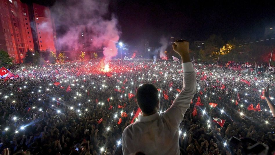 Ekrem Imamoglu after his victory in the Istanbul mayoral race last Sunday