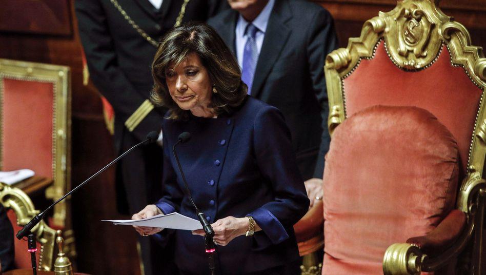 Maria Elisabetta Alberti Casellati, neu gewählte Präsidenten des italienischen Senats