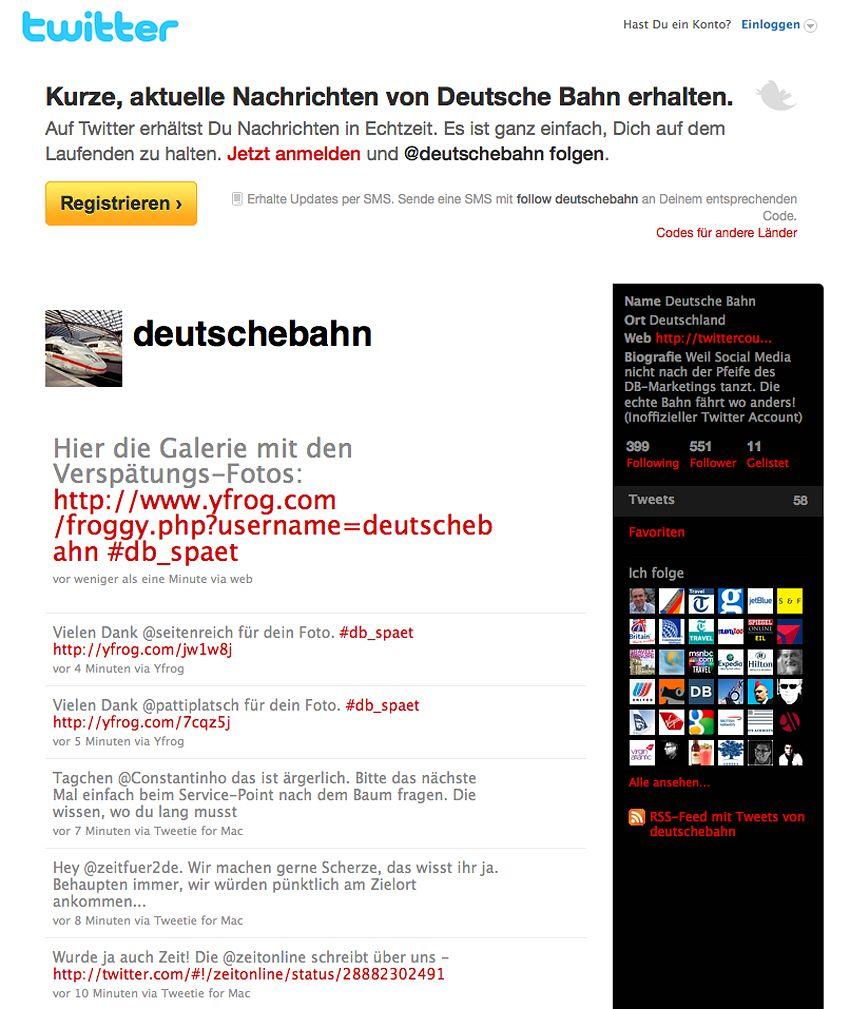 EINMALIGE VERWENDUNG Screenshot / twitter.com/deutschebahn