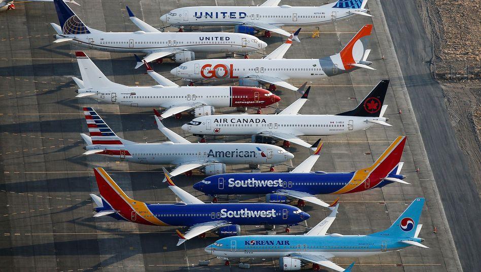 Start einer Boeing 737 Max (Archiv): Mitarbeiter sollen versucht haben, ein Pflichttraining am Simulator zu verhindern