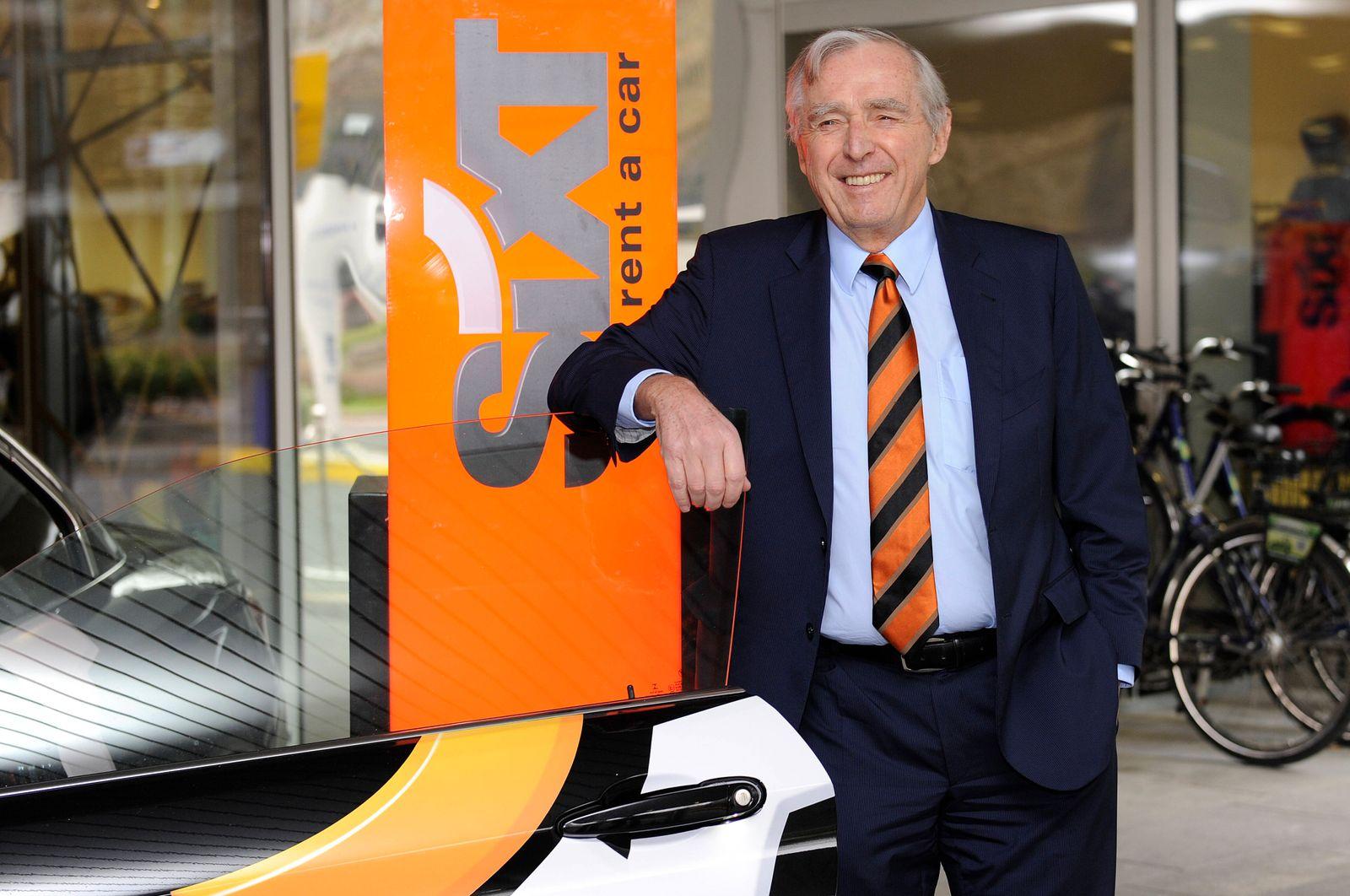 Nach 52 Jahren Autovermieter-Chef Erich Sixt tritt ab. Archivfoto: Erich SIXT,Vorstandsvorsitzender,CEO, Einzelbild,ange