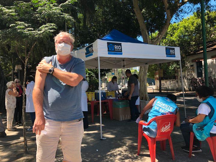 SPIEGEL-Korrespondent Glüsing nach der Grippeimpfung in Rio