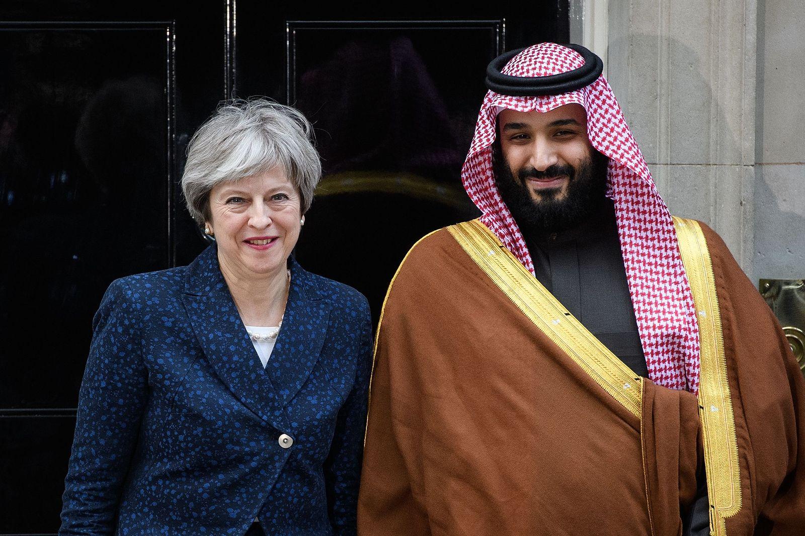 Theresa May / Mohammed bin Salman