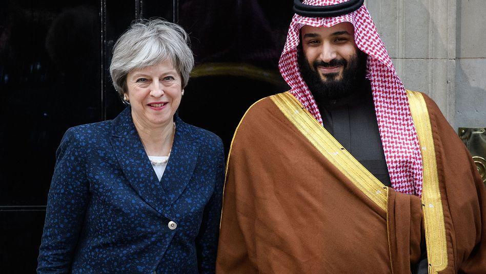 Theresa May und Mohammed bin Salman