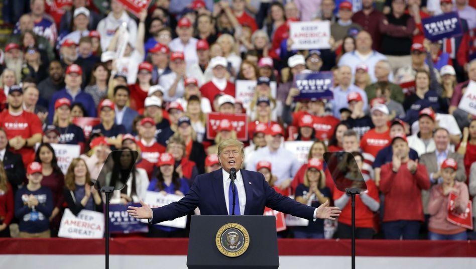 Donald Trump bei einem Wahlkampfauftritt (im Januar 2020)