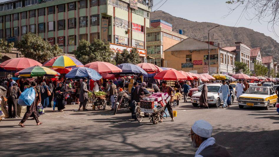 Straßenszene in Kabul 2018