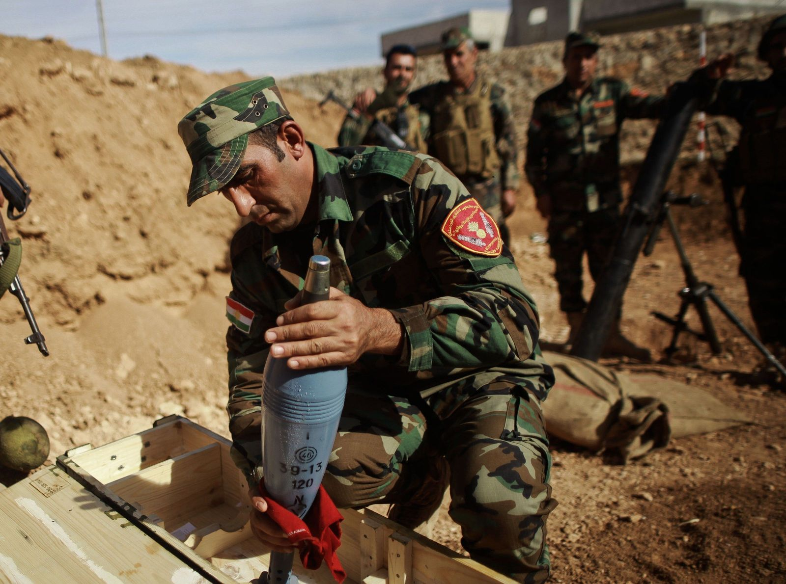 Kurdische Peshmerga Kämpfer Kobane