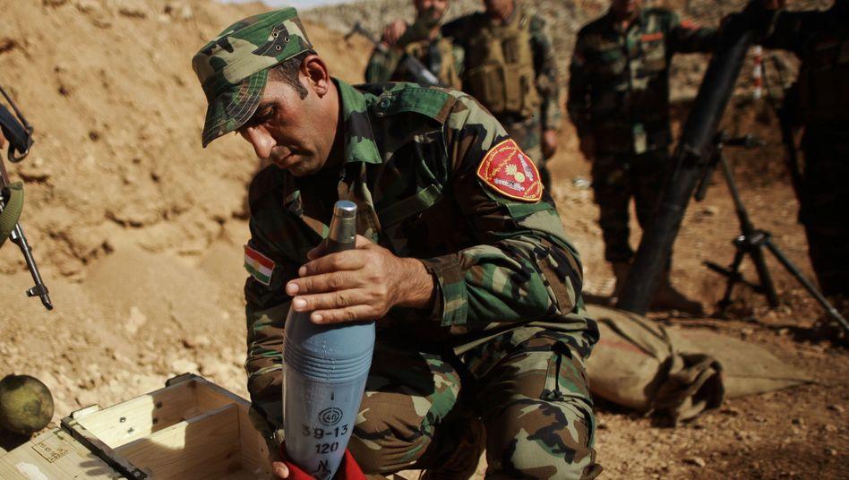 Peschmerga-Kämpfer bei Kobane: Erfolge gegen die IS-Terrormiliz