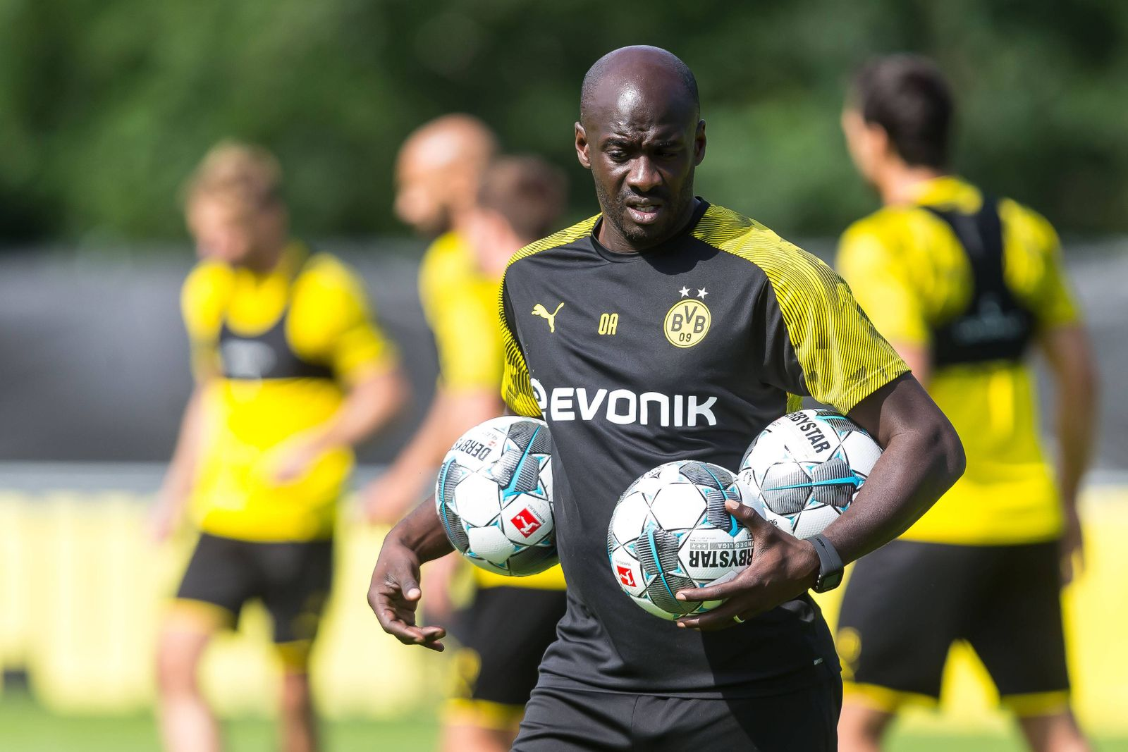 Bad Ragaz Switzerland 01 08 2019 Training Borussia Dortmund Talent Manager Otto Addo BVB Schau