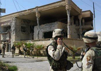 Wurde bei dem Angriff zerstört: Die Villa von Saddams Cousin in Mossul