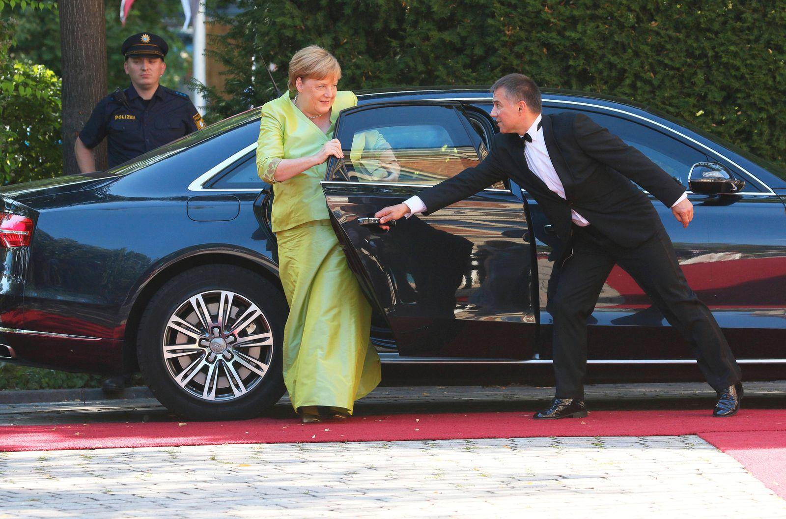Bayreuth Festspiele 25 07 2019 Dr Angela Merkel Bundeskanzlerin CDU Auffahrt zur Premiere der B