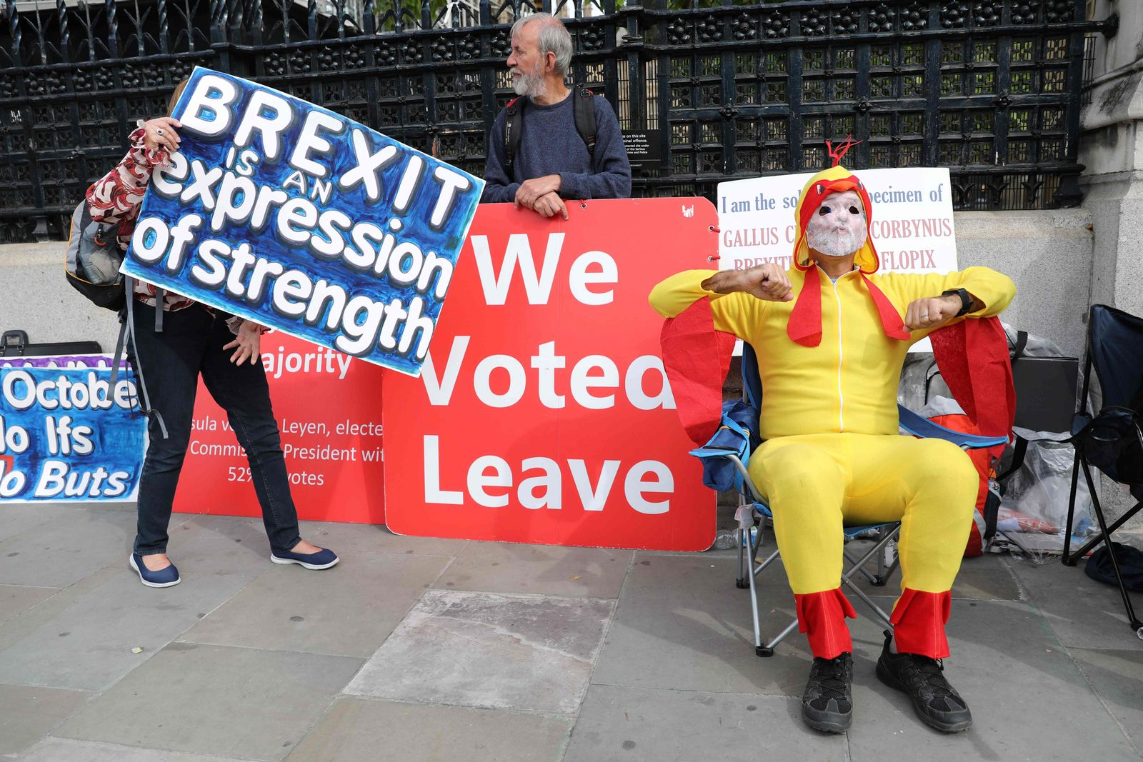 Brexit / Demonstranten