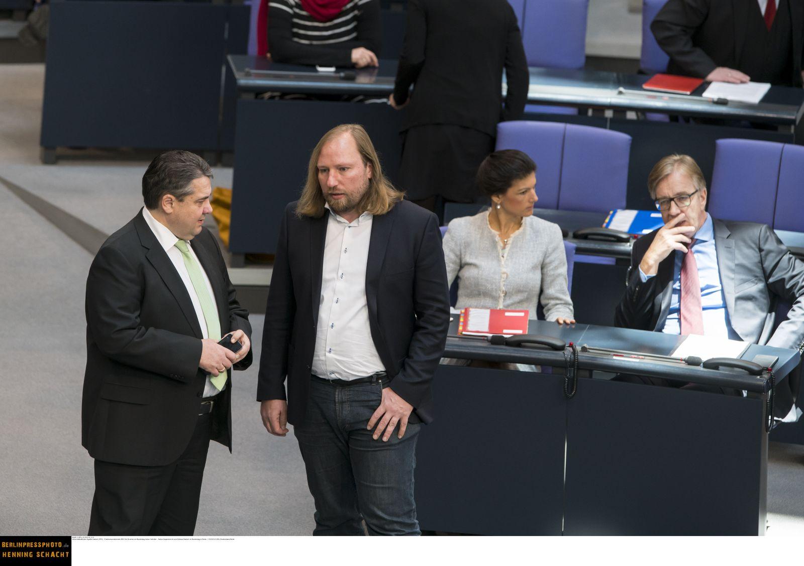 EINMALIGE VERWENDUNG Gabriel / Hofreiter / Wagenknecht / Bartsch