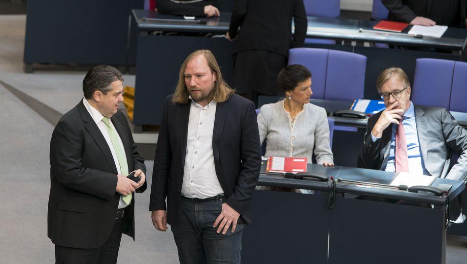 Sigmar Gabriel, Anton Hofreiter, Sahra Wagenknecht, Dietmar Bartsch
