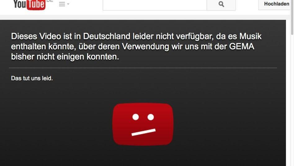 Neue YouTube-Sperrtafel: Umformulierter Hinweis