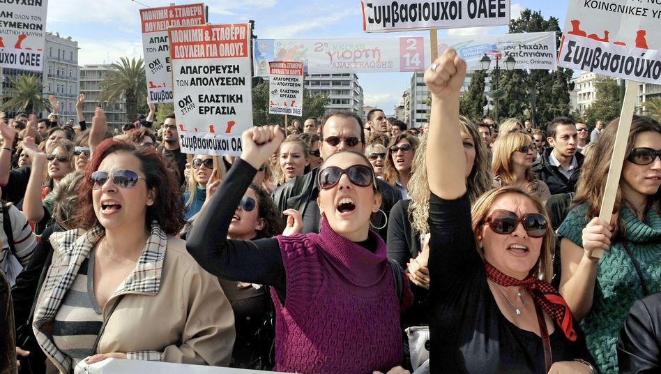 Proteste in Griechenland: Taschenspielereien in Milliardenhöhe