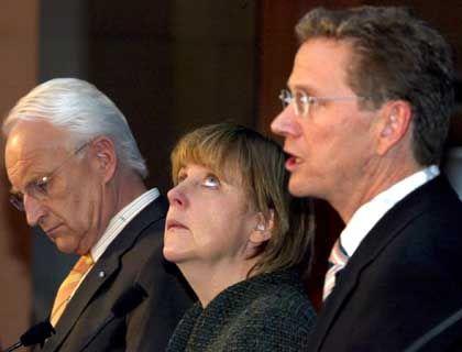 Stoiber, Merkel, Westerwelle: Am Ende einig?