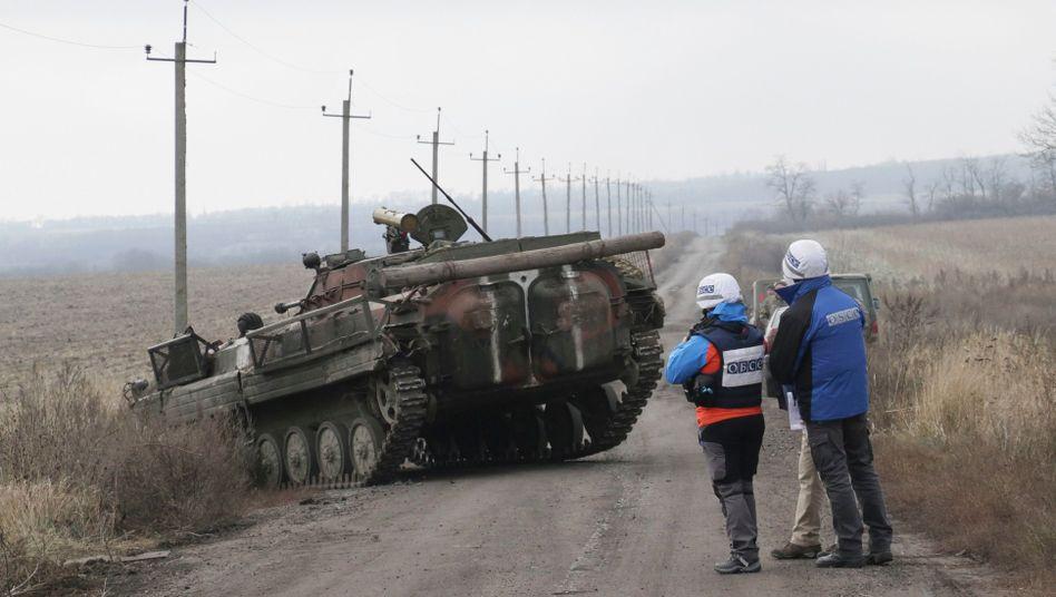 OSZE-Beobachter im Einsatz in der Ukraine