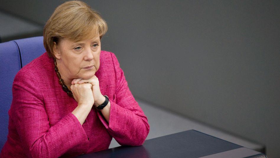 Angela Merkel: Mit den Sympathiewerten geht es für die Kanzlerin derzeit bergab